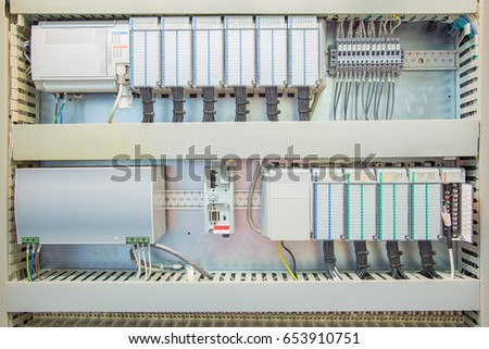 Programmable logic controller ( PLC ) to controlling oil and gas process system with fully automated its works without human and control equipment on platform as program.