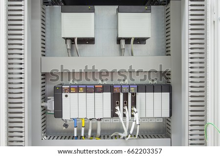 Programmable logic controller ( PLC ) to controlling oil and gas process system with fully automated its works without human and control equipment on platform as programed.