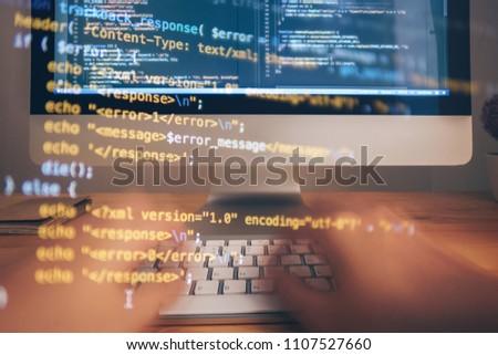 Abstract Hacking Codes  Hacker Computer Screen Closeup Free