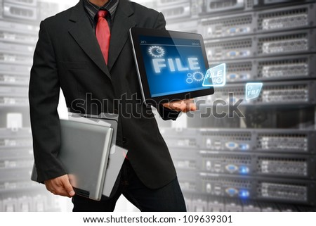 Programmer keep data file in data center room service