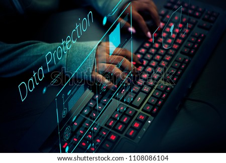Programmer working to prevent computer virus