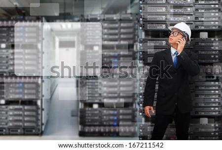 Programmers in data center room
