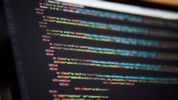 Programming code abstract background of software developer.