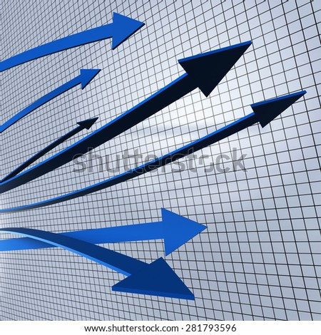 Progress Arrows Profit Rise Or Sale Increase Shows Performance Equity Growth Or Positive Profitability Success