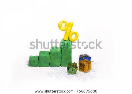 Progress bar made from Play Clay. Abstract photo isolated on white background. #766895680