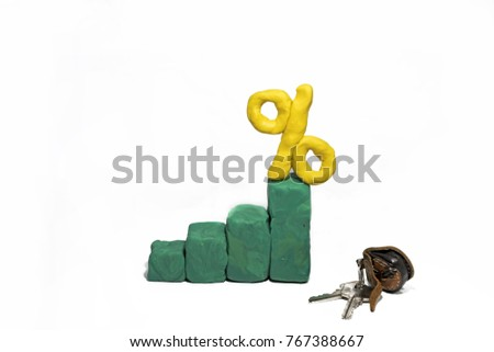 Progress bar made from Play Clay. Abstract photo isolated on white background. #767388667