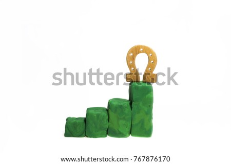 Progress bar made from Play Clay. Abstract photo isolated on white background. #767876170