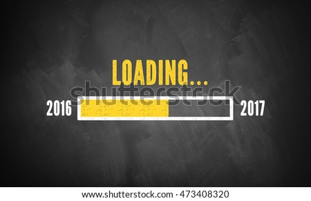 progress bar showing loading of 2017