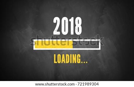 progress bar showing loading of 2018