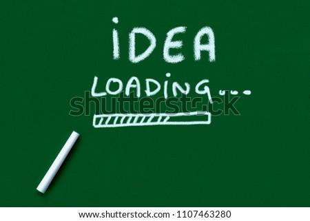 Progress bar showing loading of idea, concept idea  #1107463280