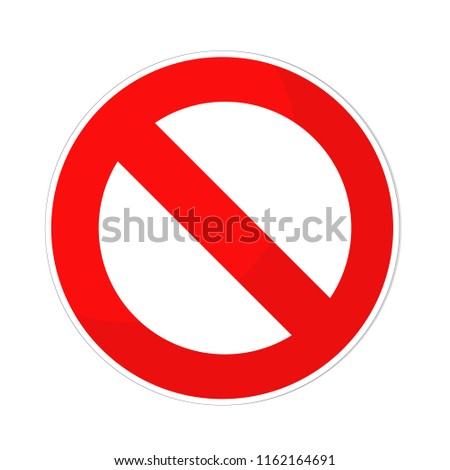 prohibited sign flat design on white, stock illustration #1162164691