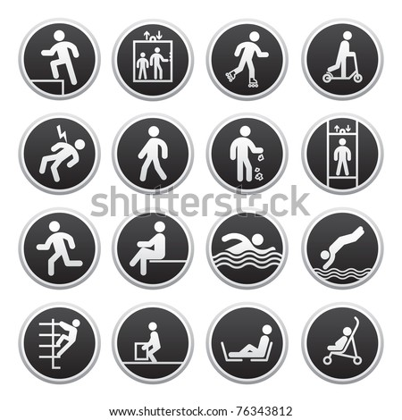 Prohibited Signs vector. Bitmap copy of image ID 75338377 - stock photo