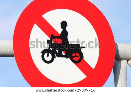 Prohibiting Sign for Motorcycle