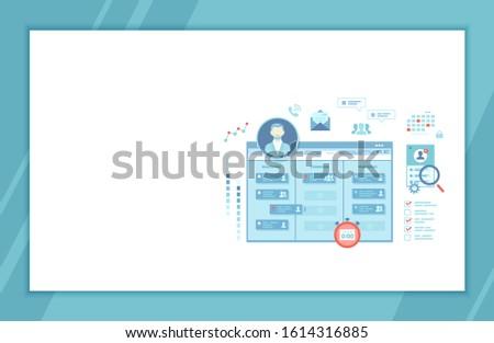 Project Management, Application Service for corporate managing, Team control, Manager, Effective distribution of tasks, Planning, Organization, Planner. Raster version