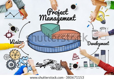 Project Management Ideas Development Graph Concept