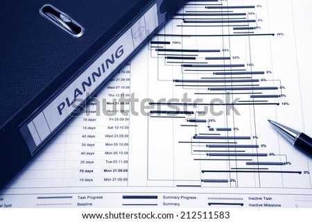 Project management - Project planning concept Stock foto ©