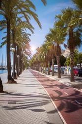 promenade at the harbor of Palma de Mallorca, Spain