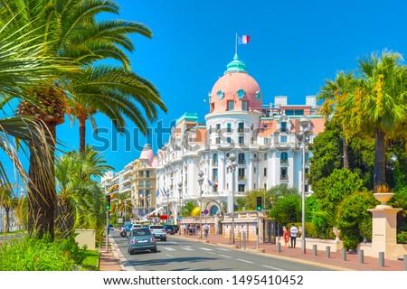 Promenade des Anglais in Nice (Nizza), France Stock photo ©