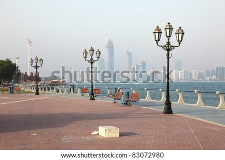 Promenade in Abu Dhabi, United Arab Emirates. Photo taken at 2nd of June 2011