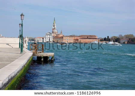 Promenade of the incurables (Fondamenta Zattere Ai Saloni), view of the Church of San Giorgio Maggiore, Venice 2014, Venice 2014 #1186126996