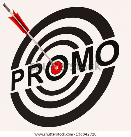 Promo Sign Showing Promotion Discount Offer Ad