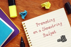 Promoting On A Shoestring Budget phrase on the sheet.