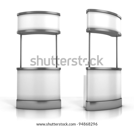 promotion counter - stock photo