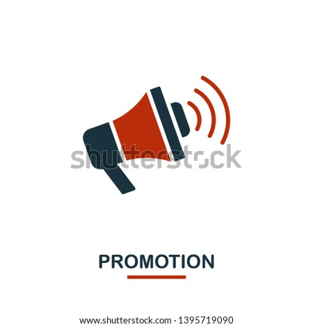 Promotion icon in two colors. Creative black and red design from e-commerce icons collection. Pixel perfect simple promotion icon for web design, apps, software, print usage.