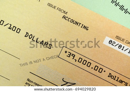 Promotional fake check