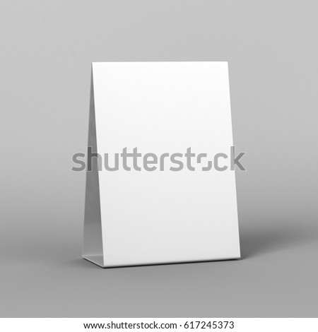 Promotional Table Talkers 3d Mock up rendering.