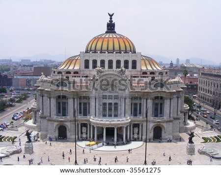 pronounced artistic monument by UNESCO in 1987 is the premier opera house of Mexico City