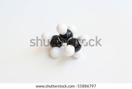 Propane Space-filling Molecule