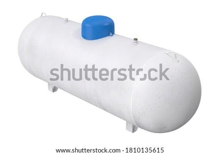 Propane Tank 3D illustration on white background Stock fotó ©
