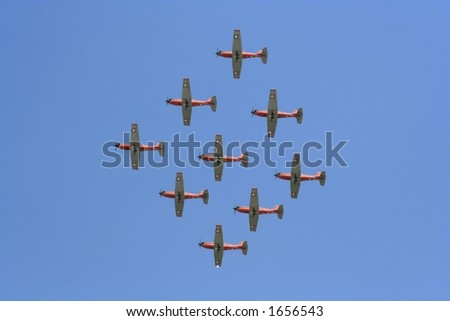 propeller aircrafts at an air show in Romania