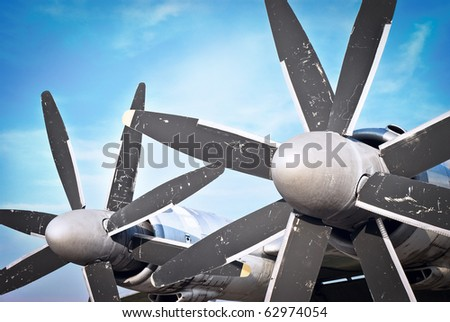 propeller and air intake against sky