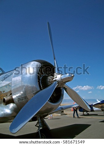 Propeller Plane in an Air Show in Powell, Wyoming, USA