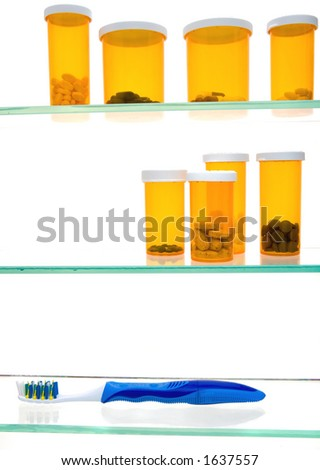 Properly stocked medicine cabinet