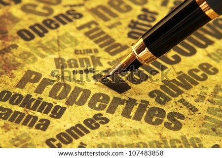 Properties concept - stock photo