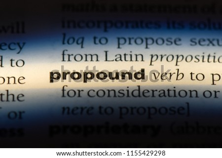 propound word in a dictionary. propound concept. Foto stock ©