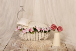 props photography newborn background bed