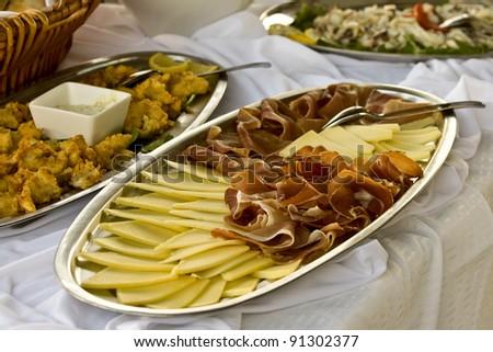 Prosciutto and cheese