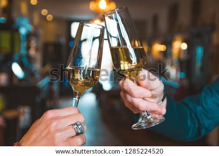 Prosecco Bubbles Cheers Drink