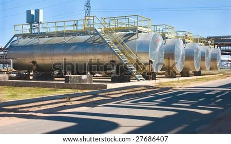 Prospect of oil tanks - stock photo