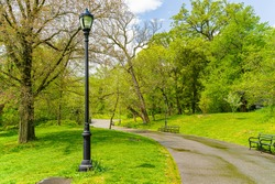 Prospect park, Brooklyn NY May 11, 2020, Brooklyn, New York City. People Keeping Their Social Distance, Because Of The Covid19 Pandemic, Prospect Park Boathouse Audubon Center