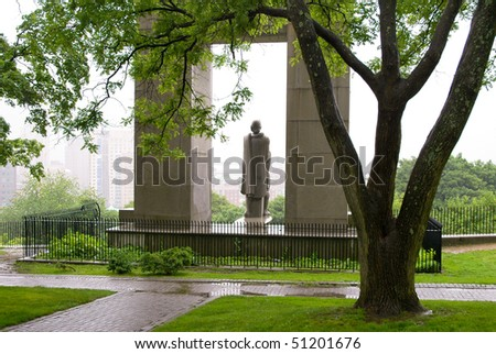 Prospect Terrace Park and Roger Williams statue