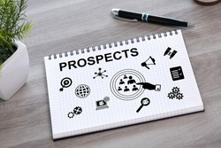 Prospects concept drawn on a notepad