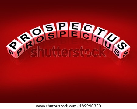 Prospectus Blocks Showing Brochures that Advertise Inform and Describe