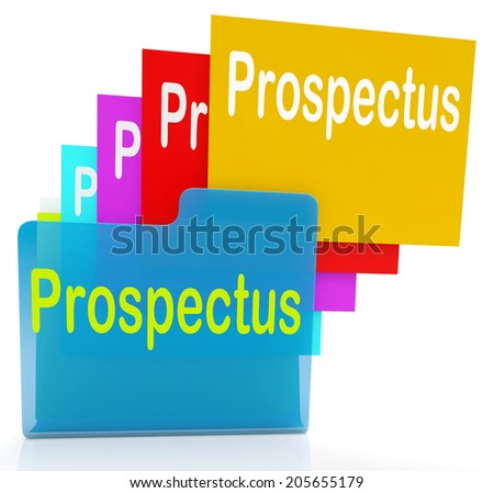 Prospectus Files Indicating Describe Pamphlet And Binder