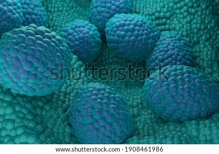 Prostate cancer cells 3d illustration isometric view Foto stock ©