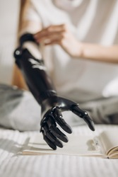 prosthetic devices, first effort to take a pen, real opportunities with modern therapy, focus on prosthetic arm